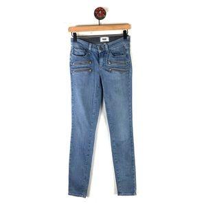 Paige Jeans 25 edgemont light washed skinny zipper